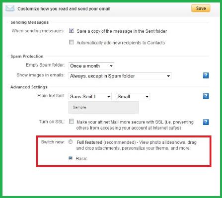 SBCGlobal Not Sending Email Error
